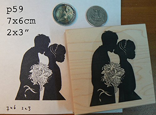 P59 Wedding kiss rubber stamp (Bride Rubber Stamp)