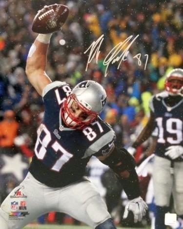 - Autographed Gronkowski Photo - 16x20 - Autographed NFL Photos