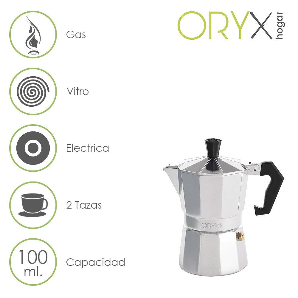 Acquisto ORYX Caffettiera 2Tazze, Alluminio, Argento, 10x 16x 10cm Prezzi offerta
