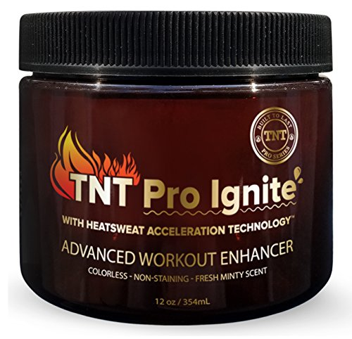 Sweat Patch - TNT Pro Ignite Stomach Fat Burner Body Slimming Cream With HEAT Sweat Technology - Thermogenic Weight Loss Workout Enhancer (12 oz)
