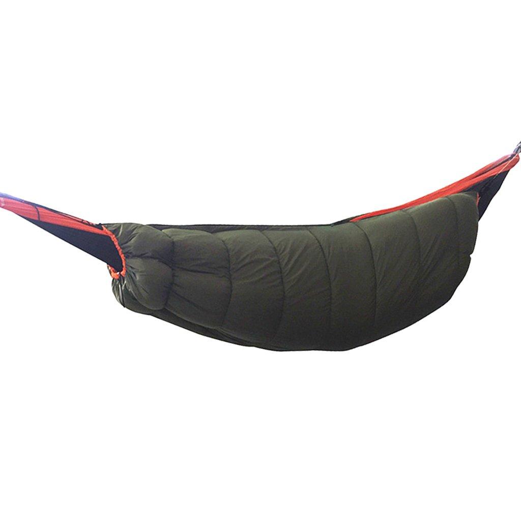 MagiDeal軽量アウトドアキャンプハンモックUnderquilt冬暖かいキルトフル長under blanket sleeping bag ARMY GREEN/ブルー/ブラック B07DYF69H6  アーミーグリーン