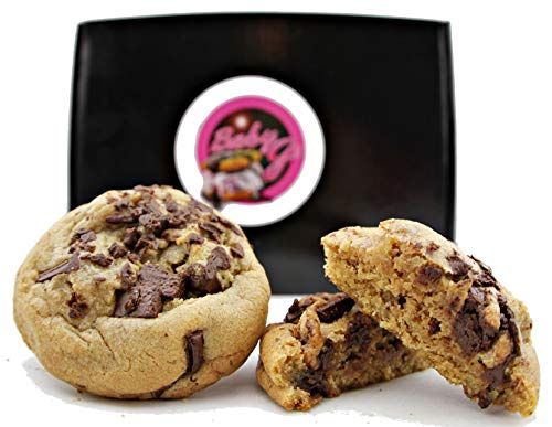 Chocolate Chip Cookies Fresh Baked Gourmet Gift Box 1 ½ Lb. Individually Wrapped Soft Natural For Him, Her Holidays Corporate Food Gifts Unique Idea Men Women Fathers-Mothers Day Families