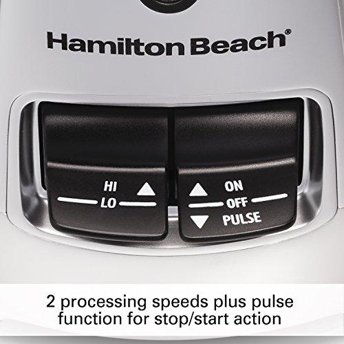Hamilton Beach Stack & Snap Food Processor 8-Cup with Adjustable Slicing Blade, Built-in Bowl Scraper & Storage Case (70820)