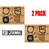 Genuine Zama RB-119 Carburetor Repair Kit for Dolmar 181 Chainsaw (2 Pack)