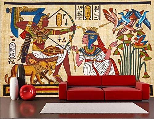Papier Peint 3d Murale Fresque égyptienne Classique Fond Tv