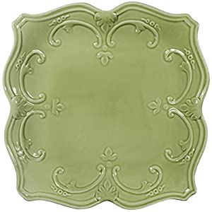 Amazon Com Home Essentials Fancy Scroll Green 10 5