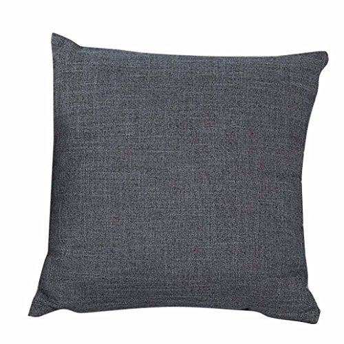 Freshzone Simple Fashion Throw Pillow Cover for Home Decor (Gray)