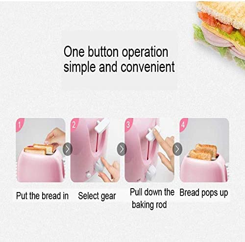 Nfudishpu Grille-Pain électrique Automatique 2 tranches Fente Toast Four Cuisson Gril Chauffant Mini Sandwich Machine à Petit déjeuner Machine à Pain Cuisine, Cuisine
