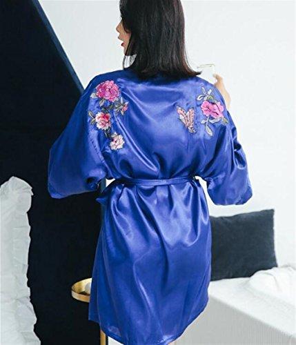 Dimensione da pajama Camicia L Blu traspirante notte da Accappatoio traspirante Blu donna Pigiama Colore in Confortevole DDOQ qHY6EE