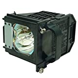 AuraBeam Professional Replacement Projector Lamp with Housing for Mitsubishi 915P061010 TV Lamp (Powered by Philips).