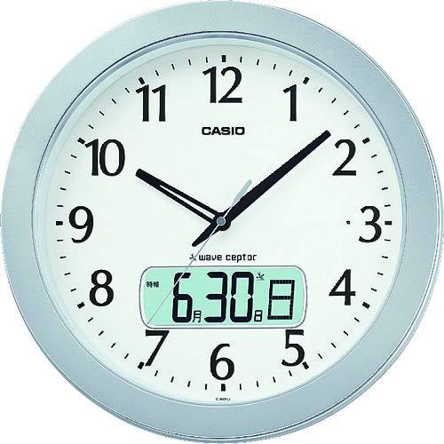 カシオ アナデジ電波掛時計 夜見えライト 野鳥のさえずりアラーム 電子ひめくり 秒針停止機能付 IC-900FLJ-8JF   B019SHTR90