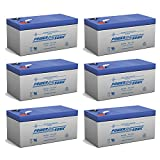 PS-1230 12V 3AH Replacement Battery for Werker WKA12-3.3F - 6 Pack