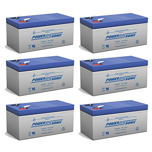 PS-1230 12V 3AH Replacement Battery for Werker WKA12-3.3F - 6 Pack by Powersonic