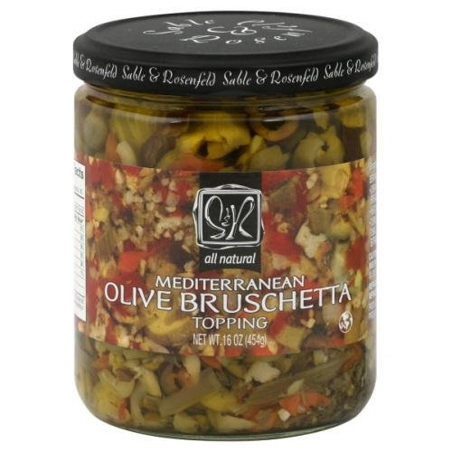 Sable and Rosenfeld Bruschetta Olive Topping, 16 Ounce - 6 per case.
