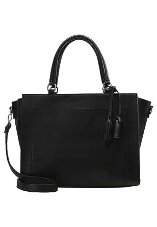 6bb2dc43a380 Anna Field Sac à main élégant avec bandoulière amovible - Sac cabas  tendance pratique en noir  Amazon.fr  Vêtements et accessoires