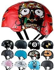 Skullcap® BMX Helm ☢ Skaterhelm ☢ Fahrradhelm ☢ Herren   Damen   Jungs & Kinderhelm
