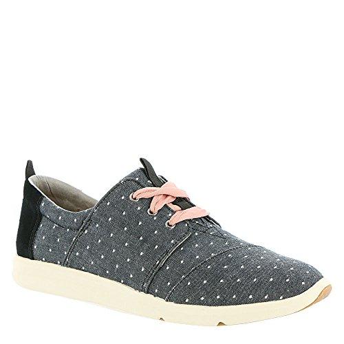 TOMS Women's Del Rey Black Dot Casual Shoe 8 Women US