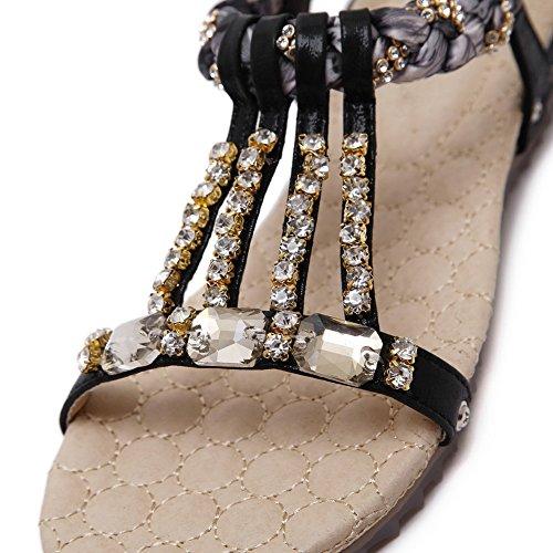 AN Womens Dress Studded Cold Lining Urethane Sandals DIU01037 Black wqyF6v