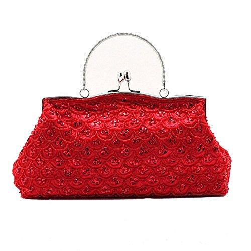 ANDAY - Cartera de mano para mujer rojo Red talla única Red