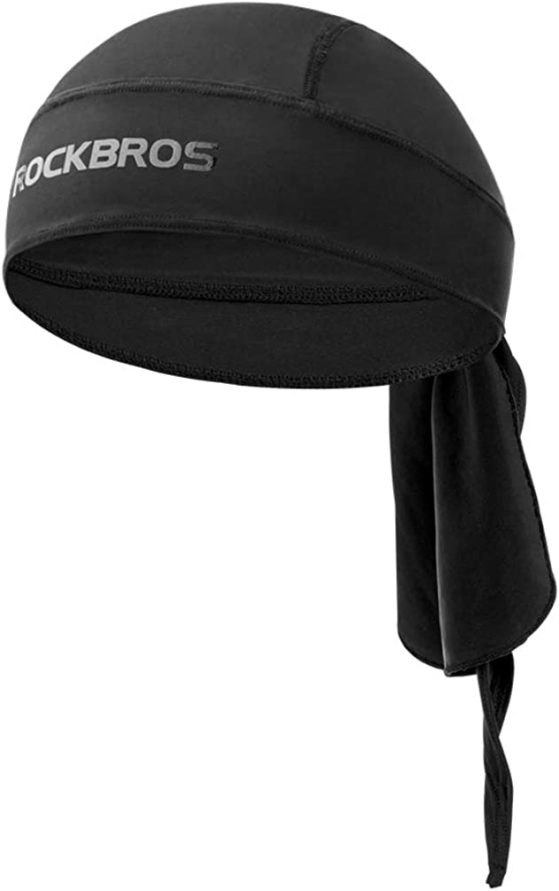 ROCK BROS Sweat Wicking Do Rag Cooling Skull Cap Dew Rag Helmet Liner Beanie Cap Hat Doo Rags for Men&Women