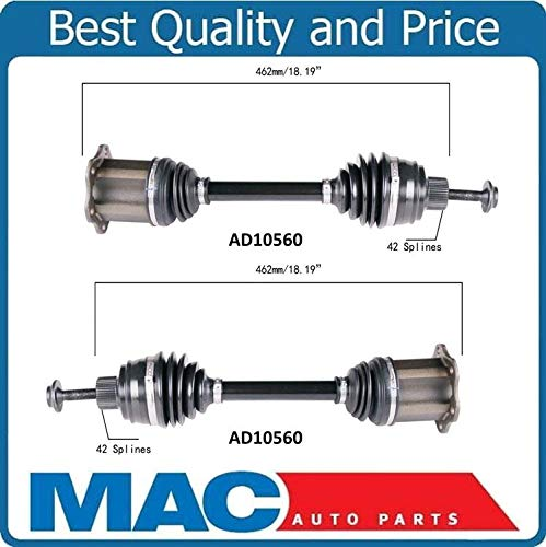 100/% Brand New Front Left /& Right Cv Shaft Axles for Audi A5 Quattro 2.0L Turbo