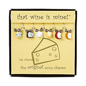 Say Cheese! Wine Charms Set of 6, Painted