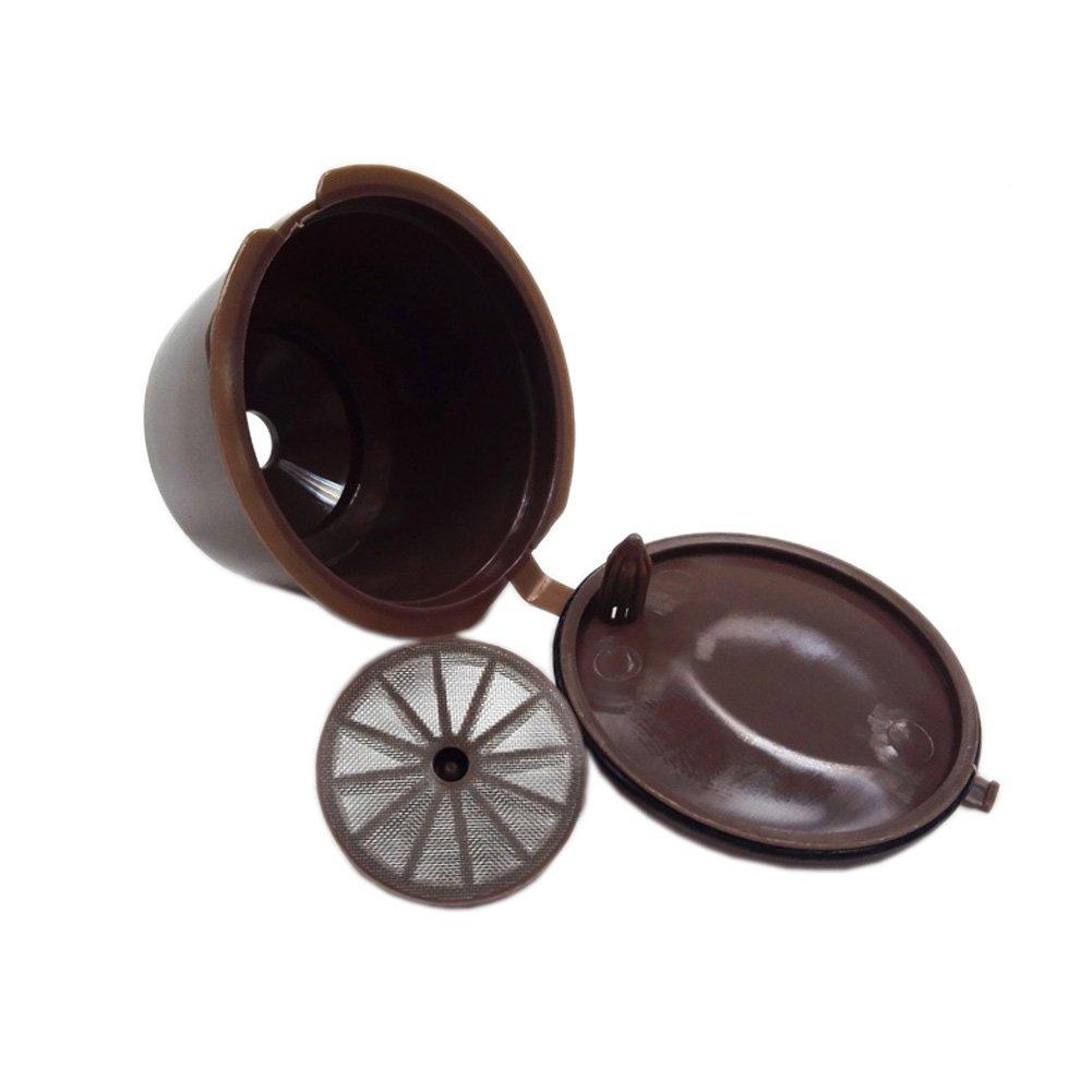 NKYSM 3Pcs Kapseln Kaffeefilter Wiederverwendbar Filterbecher Nescafe Gusto Dolce Coffee Pod Neu