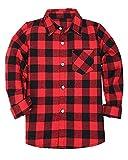 SANGTREE Little & Big Boys' Flannel Plaid Shirt 18M-12 Years