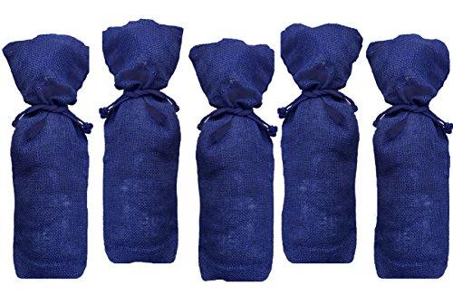 Burlap Wine Bottle Gift Bags - 5