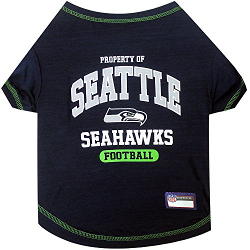 NFL SEATTLE SEAHAWKS Dog T-Shirt, Medium. - Cutest Pet Tee Shirt for the real sporty pup
