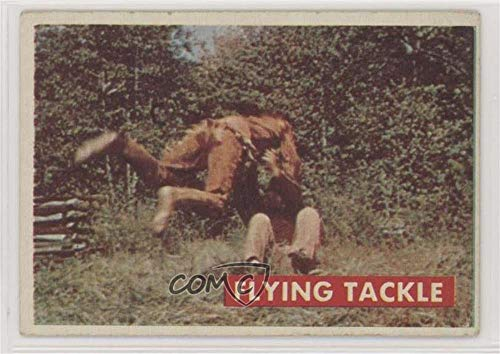 (Flying Tackle Ungraded COMC Good to VG-EX (Trading Card) 1956 Topps Davy Crockett Series 2 - [Base] #37A )