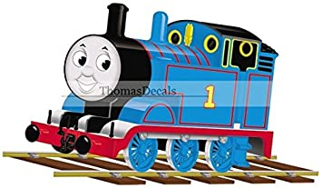 7u0026quot; Thomas The Tank Engine U0026 Friends Blue No. 1 Removable Wall Decal  Sticker