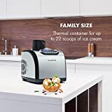 KLARSTEIN Sweet Dreams Ice Cream Maker • Compression Cooling • Family Size: for up to 50 fl.oz finished Ice Cream oz finished Gelato, Sorbet or Frozen Yogurt • Stainless Steel