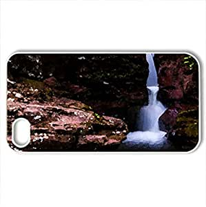 adam's falls - Case Cover for iPhone 4 and 4s (Waterfalls Series, Watercolor style, White) by icecream design