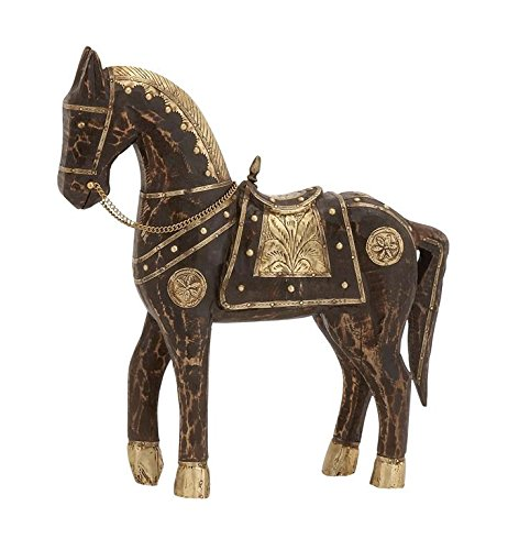 Brass, 14 by 15-Inch (Vintage Horse Figurines)
