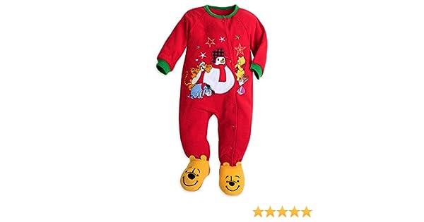 Amazon.com  Disney Store Winnie The Pooh Blanket Sleeper Christmas Holiday  Fleece Red 2017  Clothing fa200b660