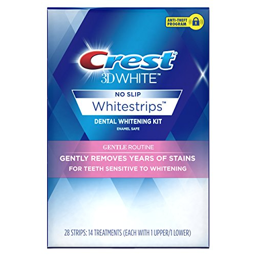 Crest Whitening Strips (Crest 3D White Whitestrips Gentle Routine Teeth Whitening Kit, 14 Treatments)