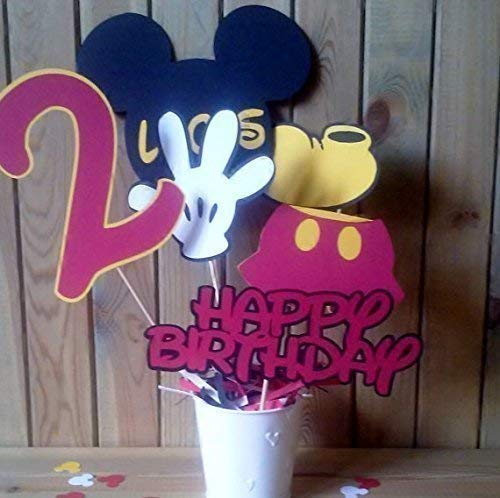 Mickey Mouse Centerpiece - mickey and friends - red and black decor - personalized - party (Friends Party Centerpiece)