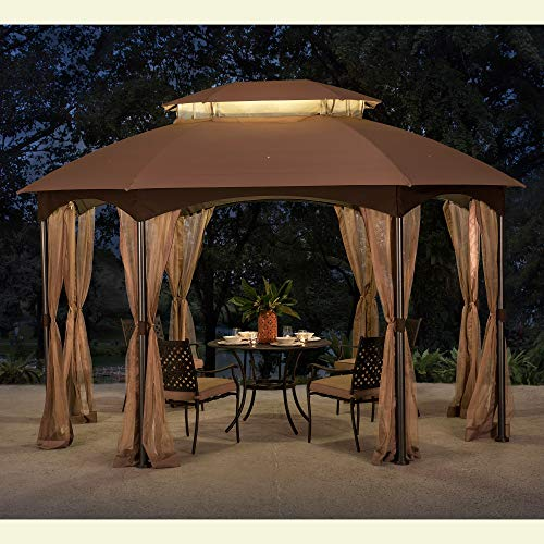 Sunjoy 110109024 Replacement Canopy Tent, Khaki (Octagonal Garden Gazebo)