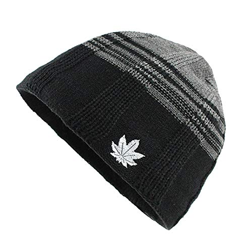 Mens Slouchy Chunky Stretch Knit Warm Lined Skully Baggy Beanie Hats Cap Afterso ()