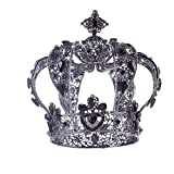 Girls Crown, Beautiful headdress/Bridal Ornaments Retro Circular Crown Ornaments High-End Baroque Hair Accessories Wedding Accessories (Color : A)