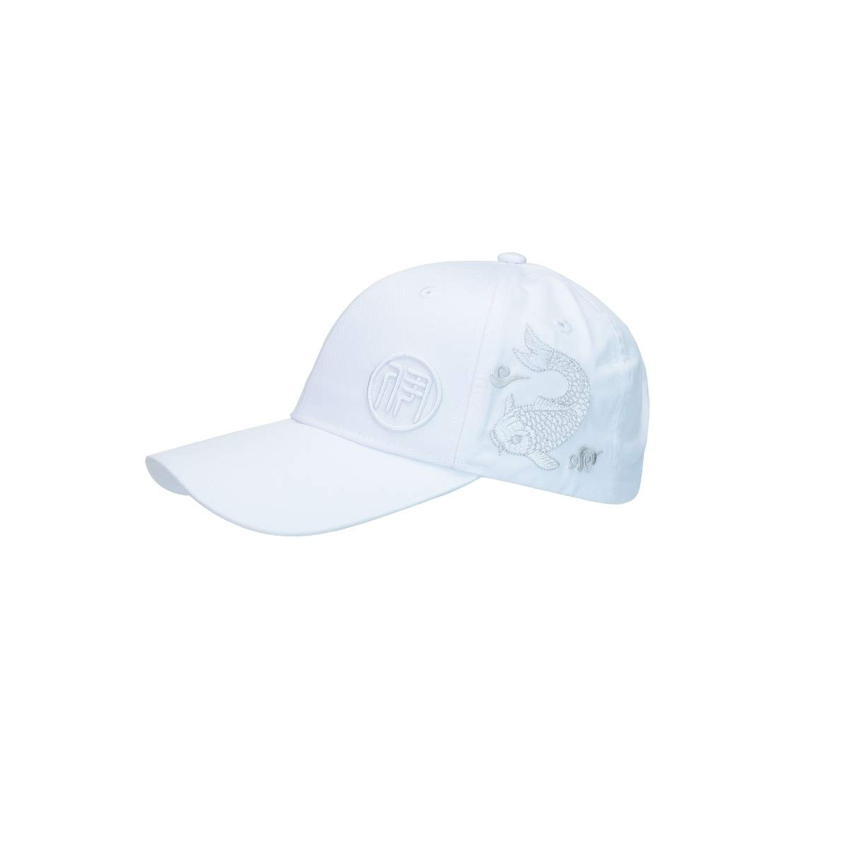 Zhongyue Spring and Autumn Chinese Style Baseball Cap Comfortable Breathable Men and Women Hat, White, Black Summer hat (Color : White)