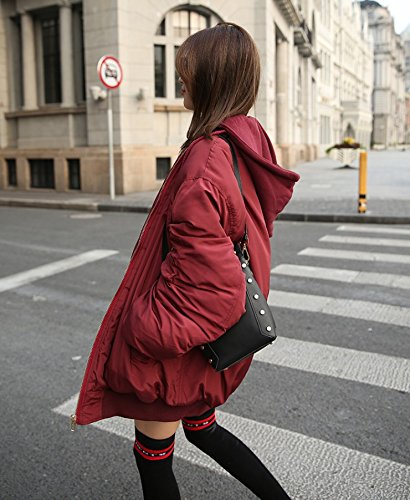 Red Female Autumn Cotton And wine Thick Wine Wind Baseball Xuanku Winter Loose Red Pilots Clothing Street Jacket Cotton Plus Jacket U0Hq4wxd