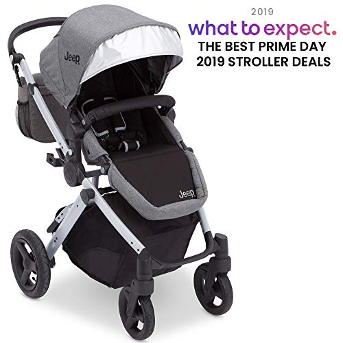 Jeep Sport Utility All-Terrain Stroller, Grey on Silver Frame