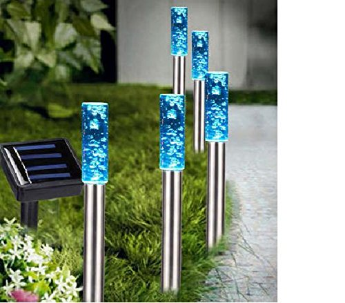 Colour Changing Solar Bubble Lights Set of x5, Great for Flower Beds, Gardens, Patios,Path Lights Klife