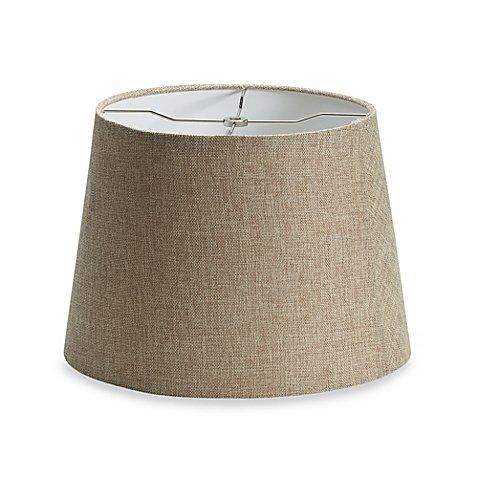 - Medium 14-Inch Classic Linen Drum Lamp Shade in Tan