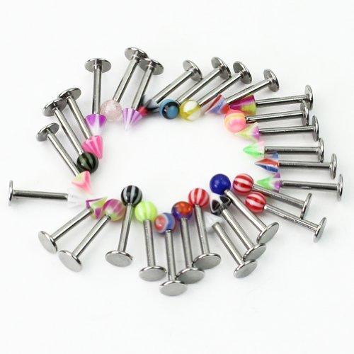 30 x Goujons à lèvres Labret Monroe Anneaux bijoux piercing en acier inoxydable