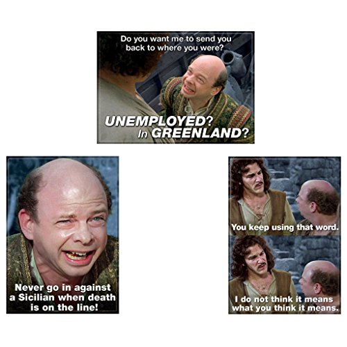 Bundle - 3 Items: The Princess Bride Refrigerator Magnets #03