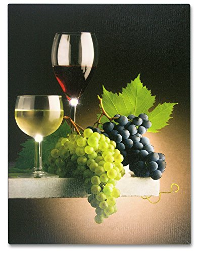 Lighted Wine Themed Picture - Wine Canvas Print with LED