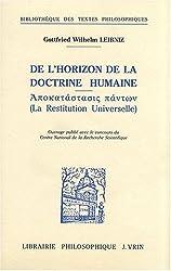 De l'horizon de la doctrine humaine, 1693